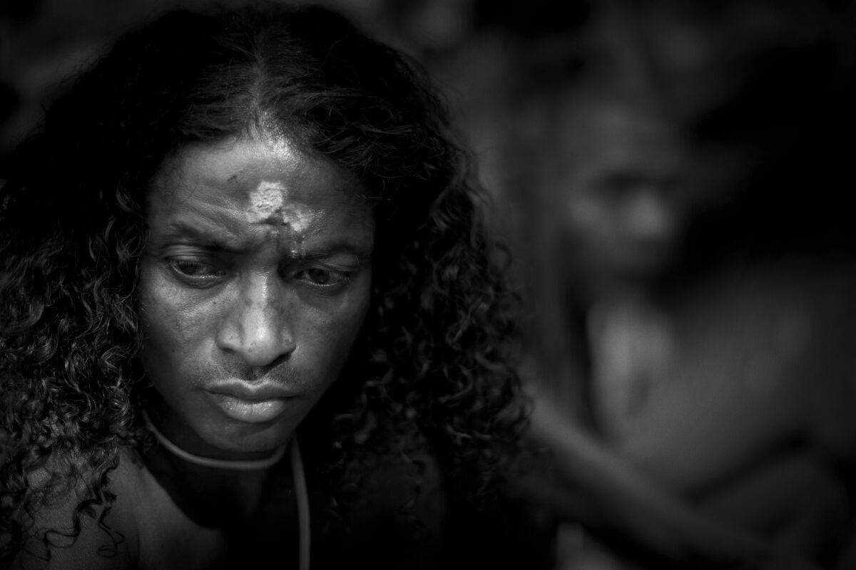 Shaman at a Ritual Ceremony. Chhattisgarh, India.