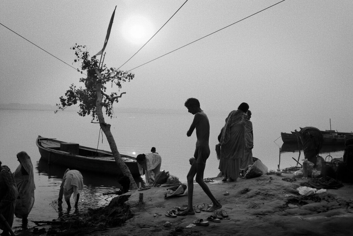 Sunrise at Assi Ghat. Varanasi, India.