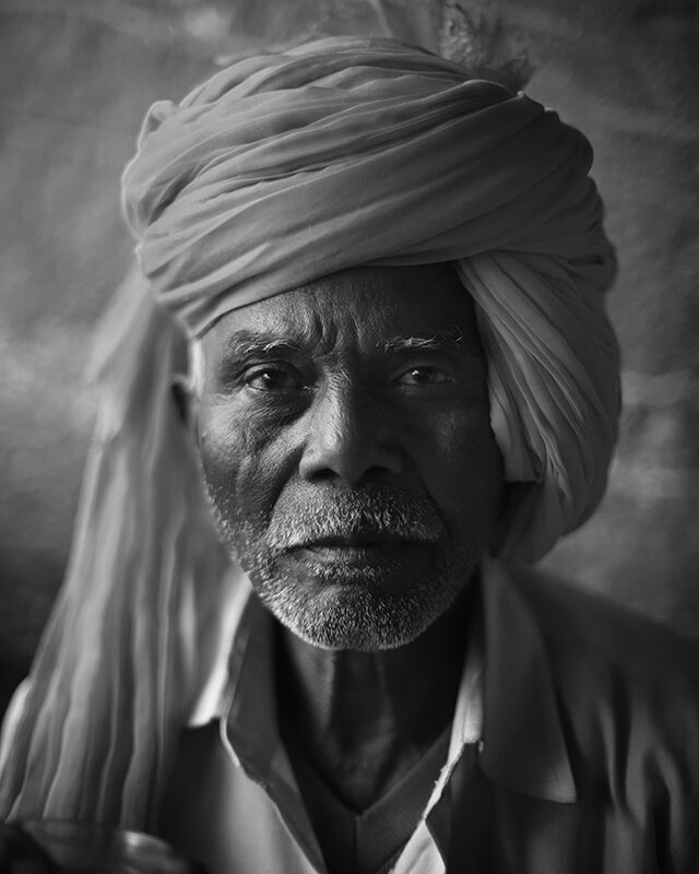 Morning At The Chai Stall. Portrait No. 1.  Bundi, India.