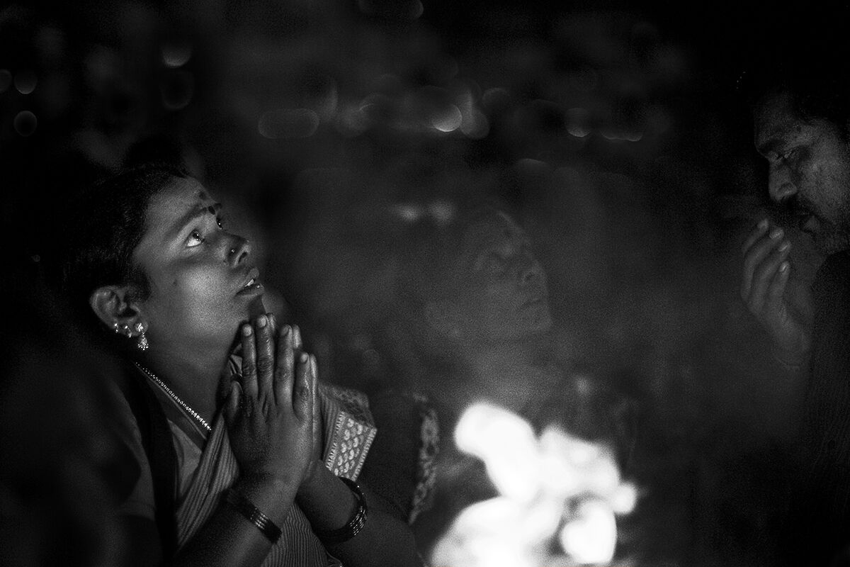 Full Moon Fire Ceremony. Tiruvannamalai, Tamil Nadu, India.